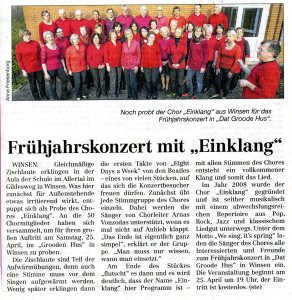 Cellesche Zeitung 18.April 2015